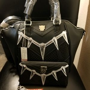 LOUNGEFLY MARVEL Black Panther Purse & Wallet